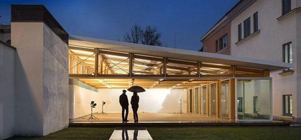 IE's paper pavilion designed by Shigeru Ban